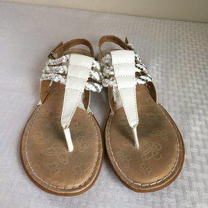 BOC Adrie white & silver sandals- 8M